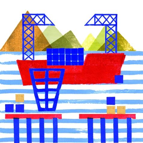 Astilleros-Étiquettes maritimes 15cmx15cm